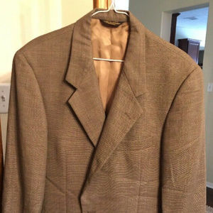 Brooks Brothers Mens Beige Nailhead Sport Coat